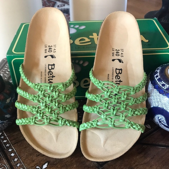 484435d9a6b6e3 Birkenstock Shoes - Lime Green Birkenstocks - New with Box!